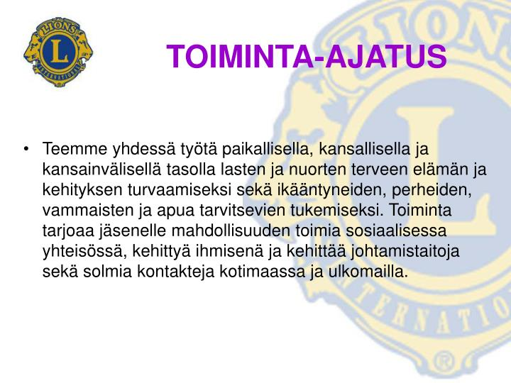 TOIMINTA-AJATUS