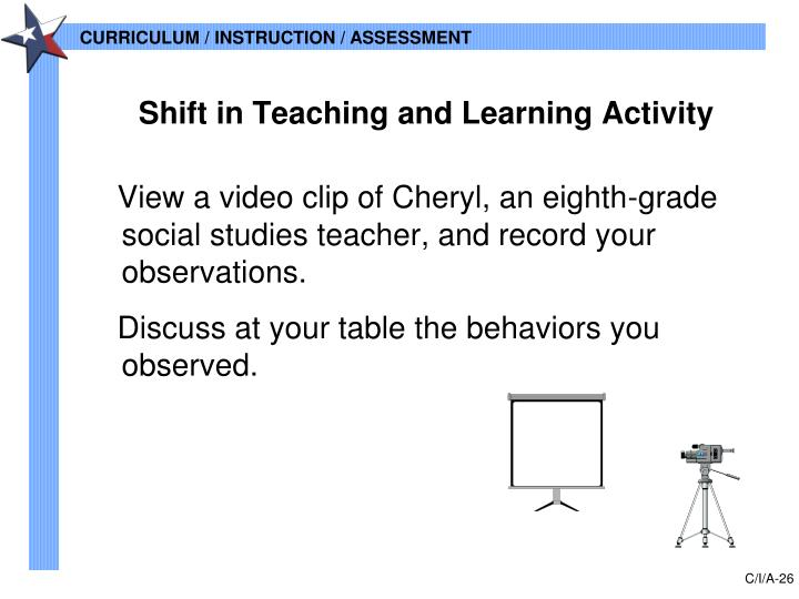View a video clip of Cheryl, an eighth-grade social studies teacher, and record your observations.