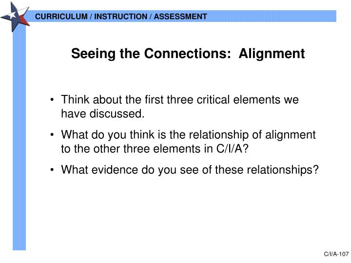 Seeing the Connections:  Alignment
