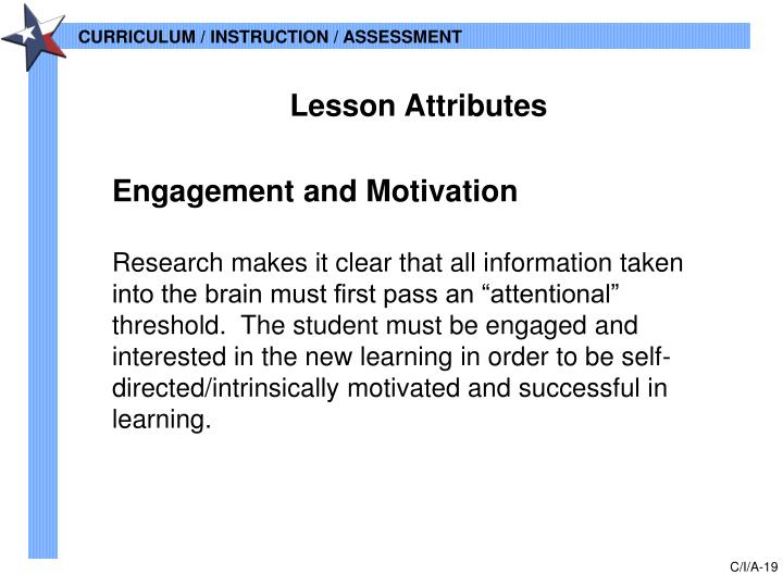 Lesson Attributes