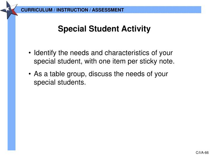 Special Student Activity