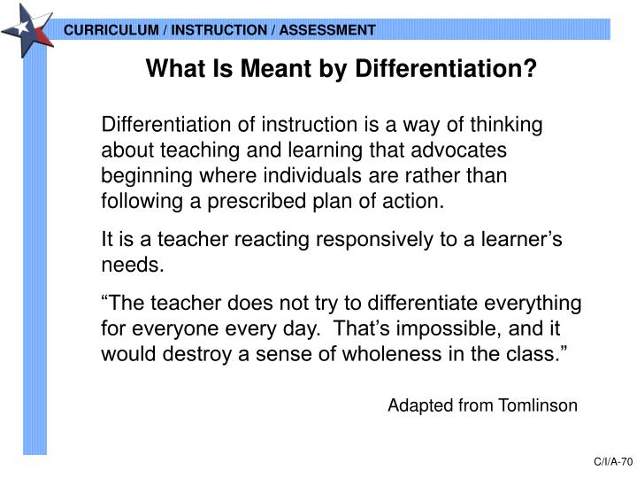 What Is Meant by Differentiation?