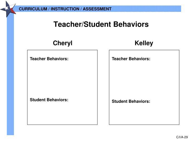 Teacher/Student Behaviors