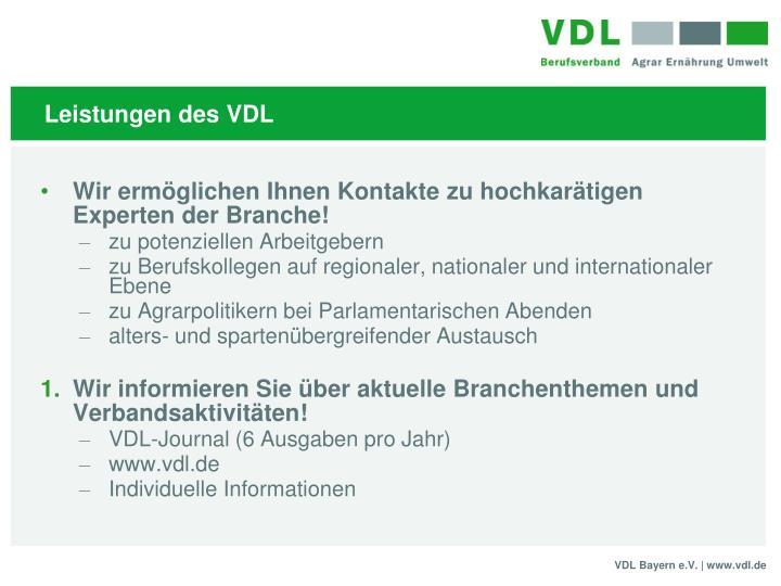 Leistungen des VDL