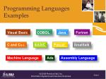 programming languages examples