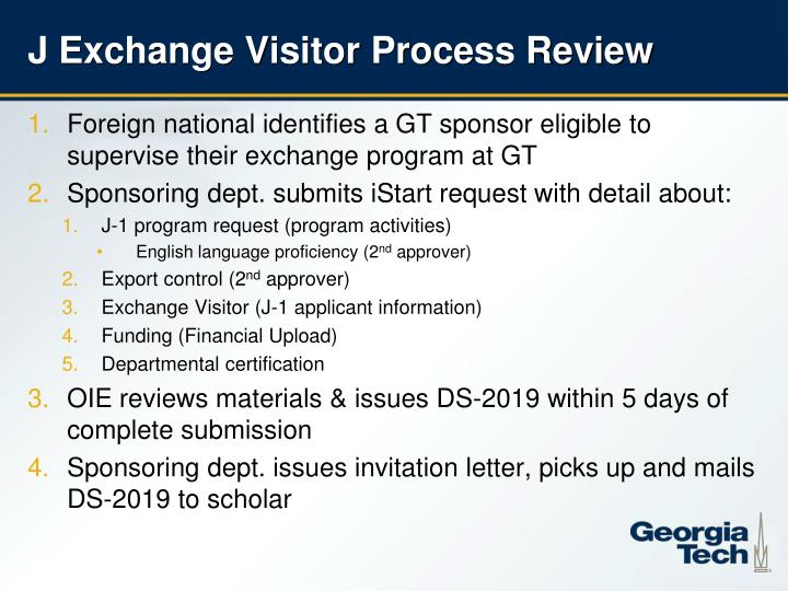J Exchange Visitor Process Review