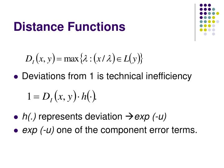 Distance Functions