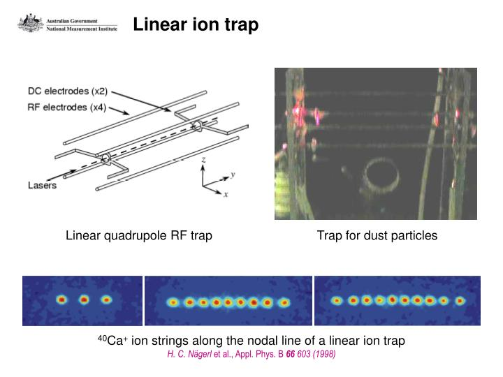 Linear ion trap