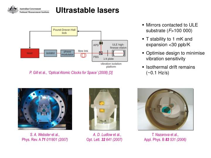 Ultrastable lasers