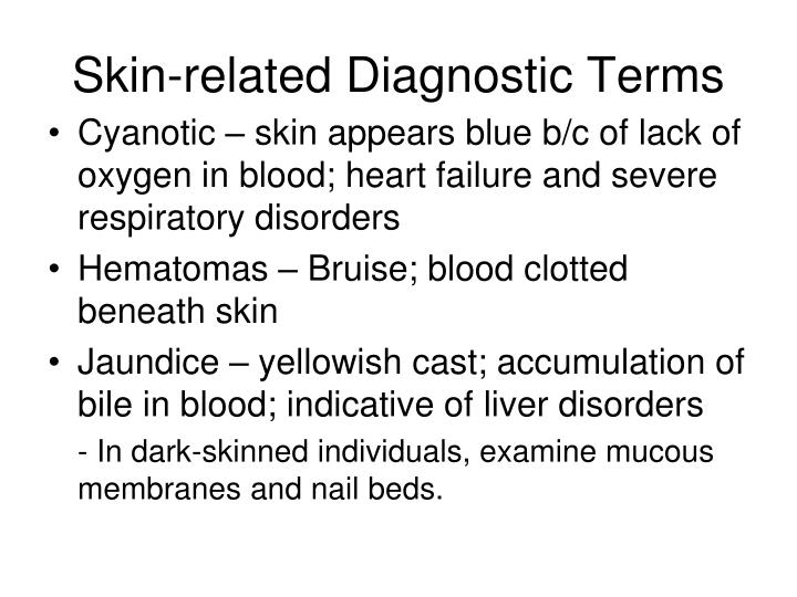 Skin-related Diagnostic Terms