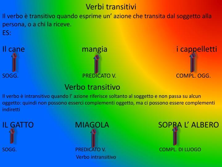 Verbi transitivi
