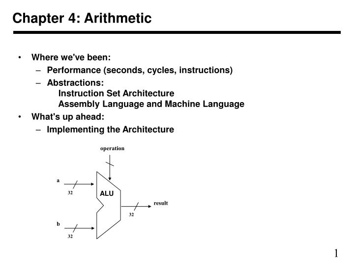 chapter 4 arithmetic n.