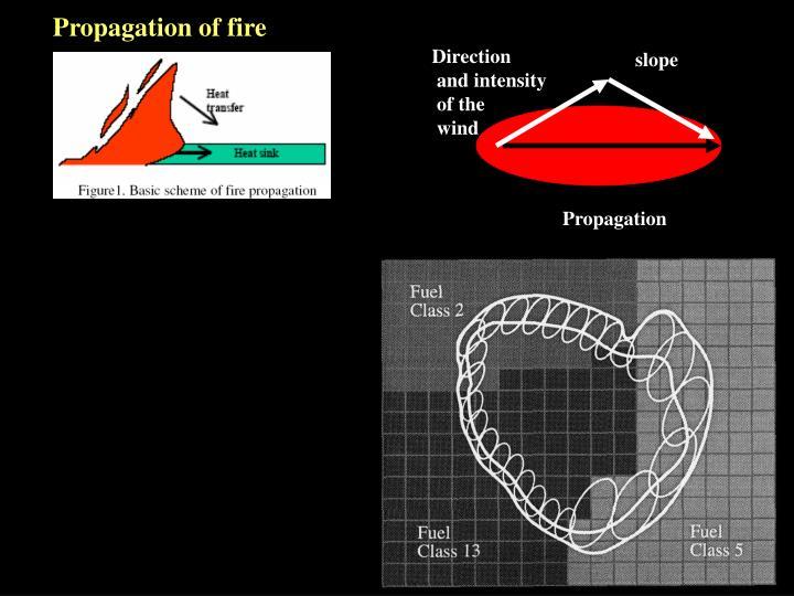 Propagation of fire