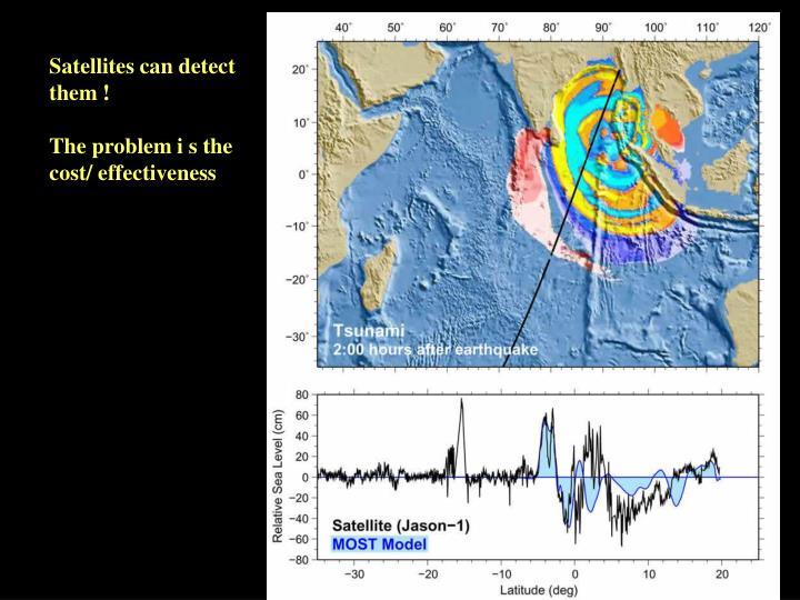 Satellites can detect