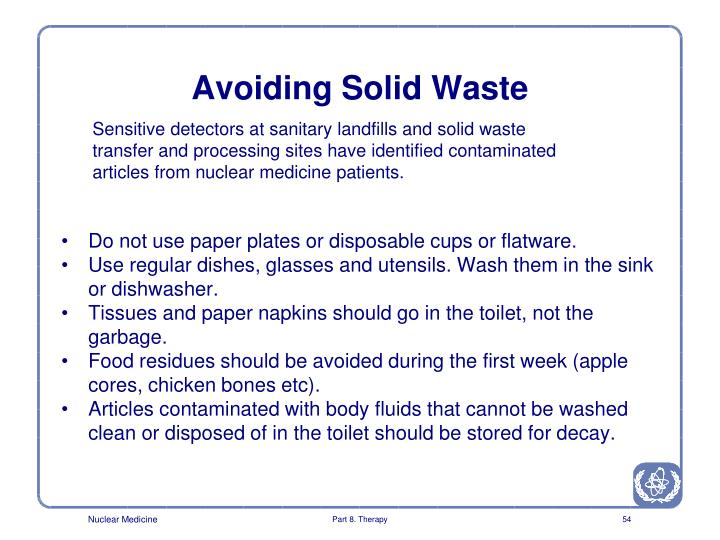 Avoiding Solid Waste