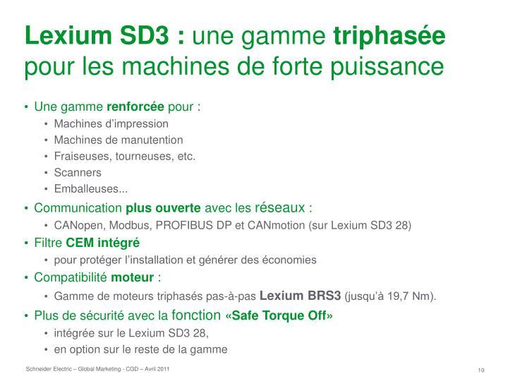 Lexium SD3 :