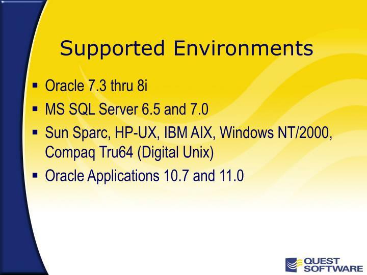 Oracle 7.3 thru 8i