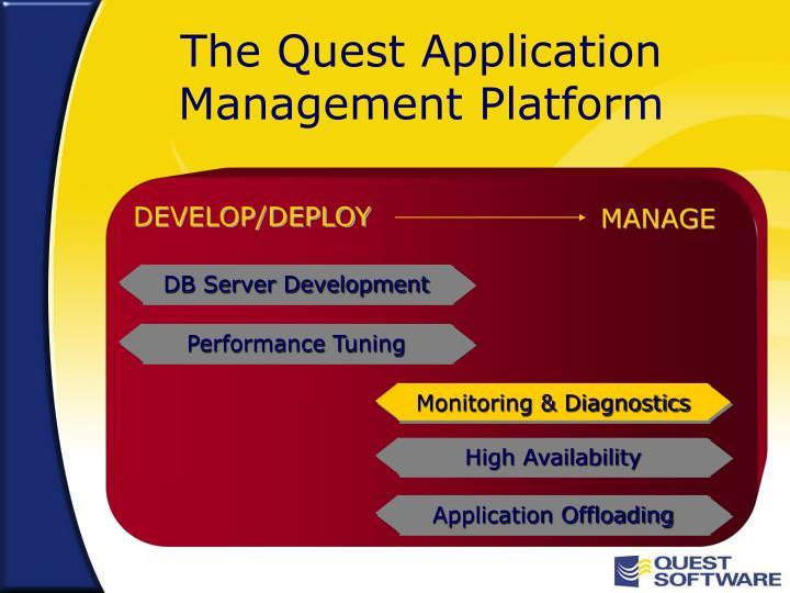 The quest application management platform