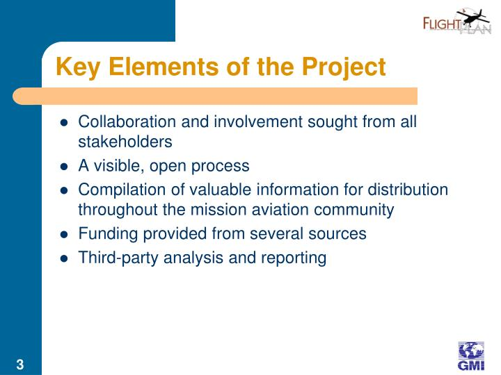 Key elements of the project