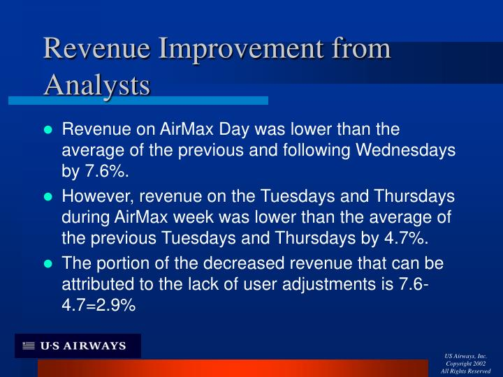 Revenue Improvement from Analysts