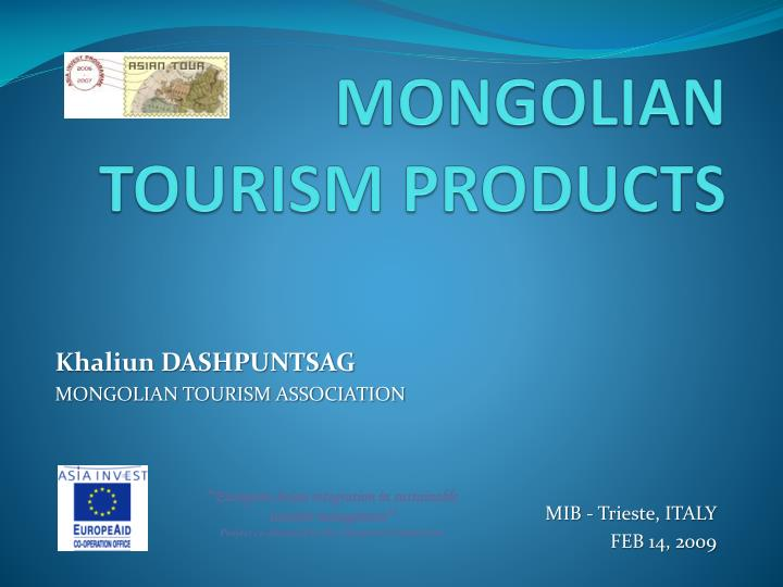 Mongolian tourism products