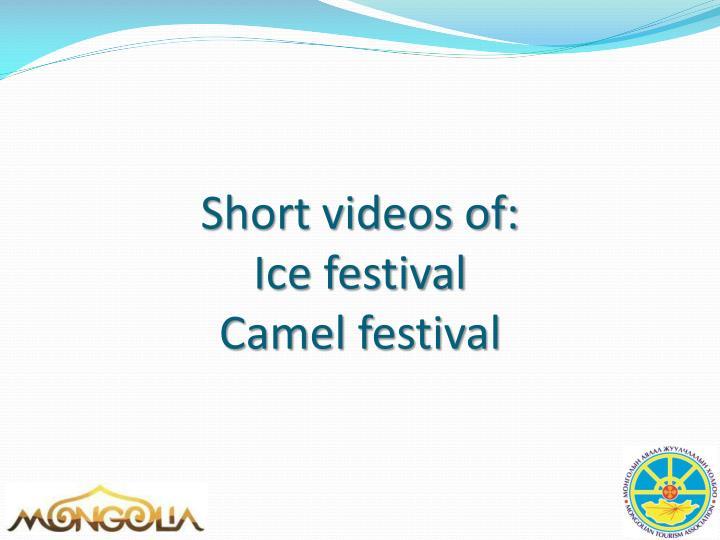 Short videos of: