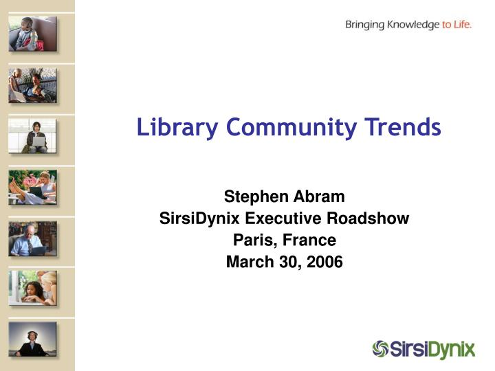 library community trends n.