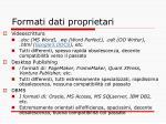 formati dati proprietari
