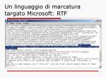 un linguaggio di marcatura targato microsoft rtf