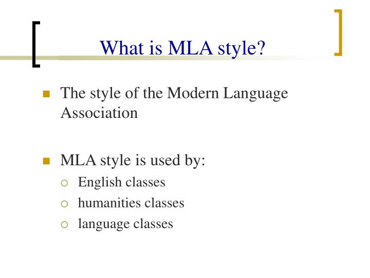 what is mla style n.