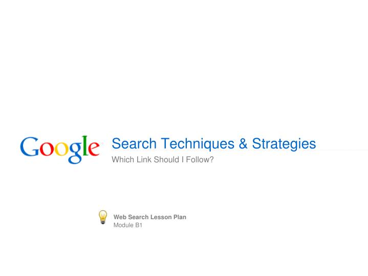 search techniques strategies n.