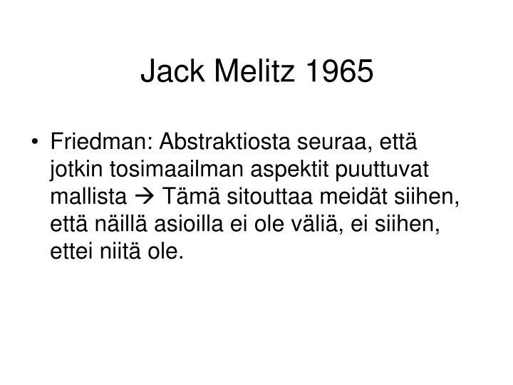 Jack Melitz 1965