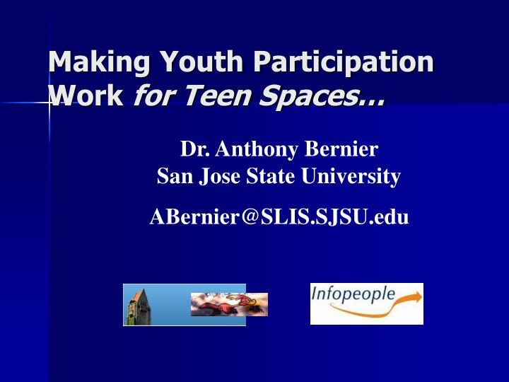Making youth participation work for teen spaces