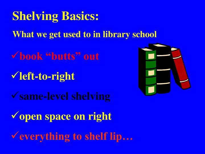 Shelving Basics:
