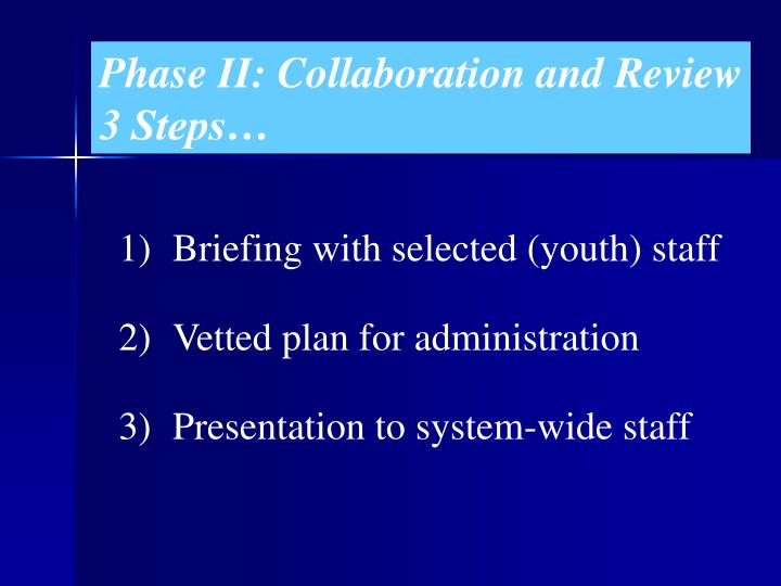 Phase II: Collaboration and Review