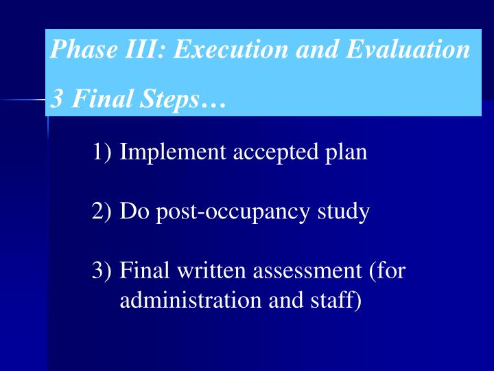 Phase III: Execution and Evaluation