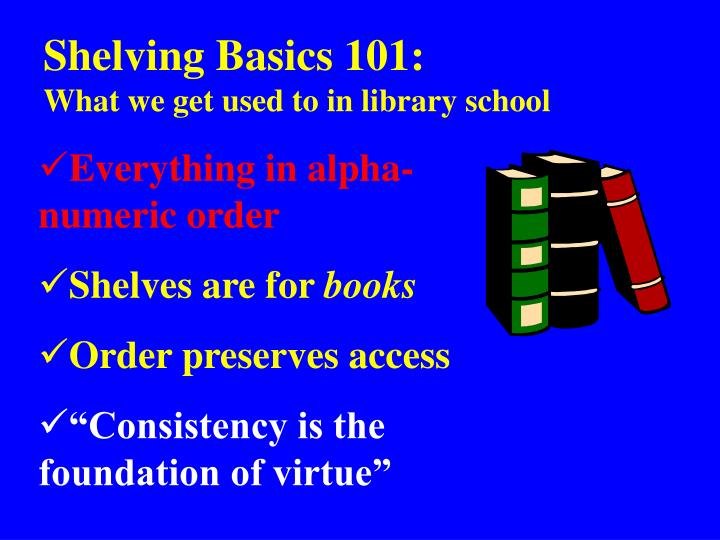 Shelving Basics 101: