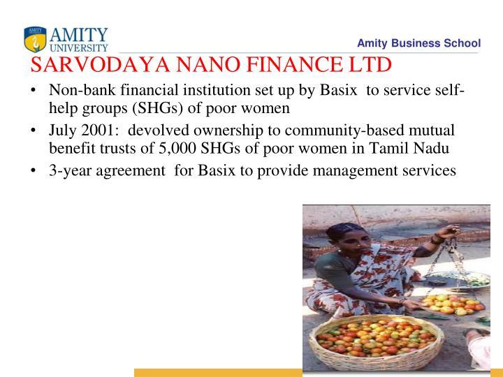 SARVODAYA NANO FINANCE LTD