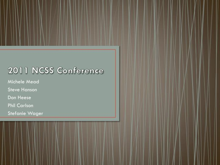 2011 ncss conference