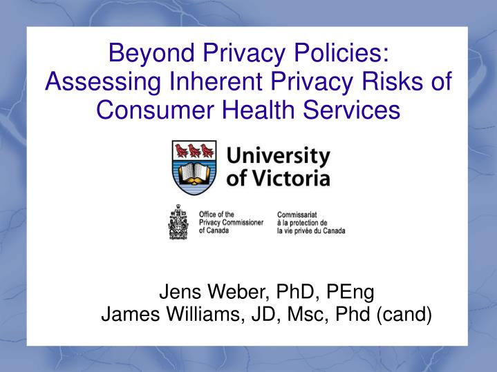 beyond privacy policies assessing inherent privacy risks of consumer health services