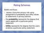 rating schemes1