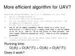 more efficient algorithm for uav2
