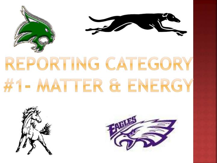 reporting category 1 matter energy n.