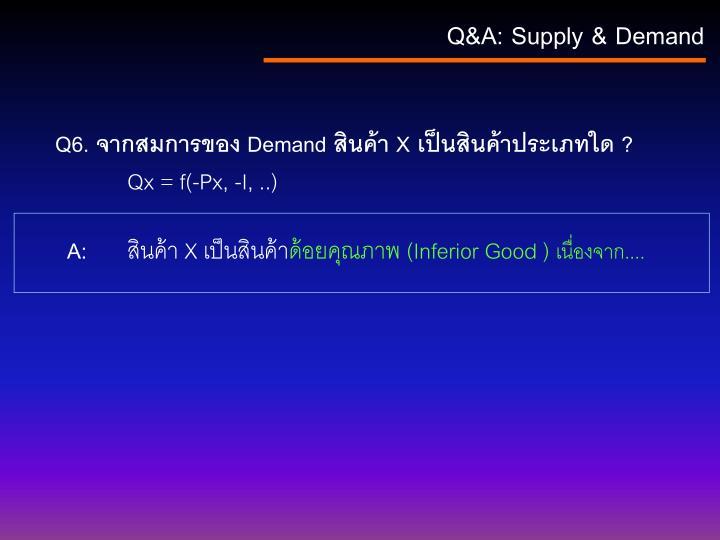 Q&A: Supply & Demand