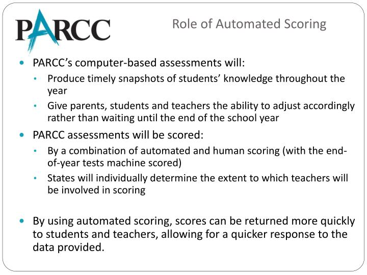 Role of Automated Scoring