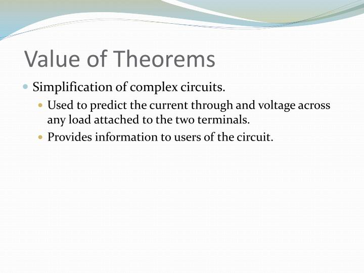 Value of Theorems