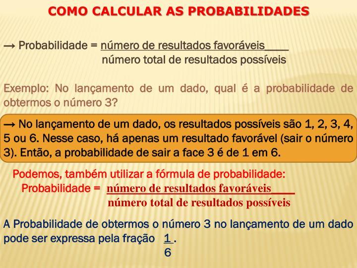 → Probabilidade =