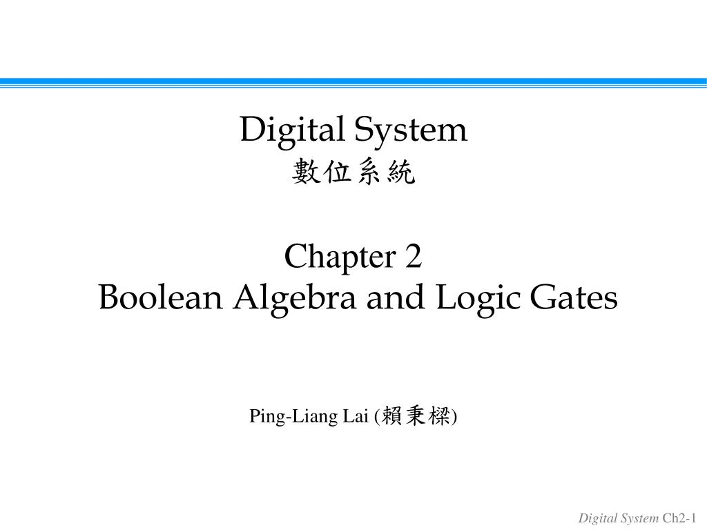Ppt Chapter 2 Boolean Algebra And Logic Gates Powerpoint N