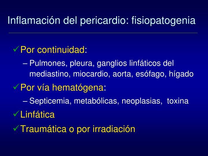 Inflamación del pericardio: fisiopatogenia