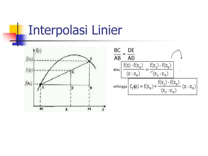 Interpolasi Linier
